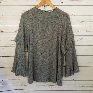Bar III ruffle sleeve  sweater